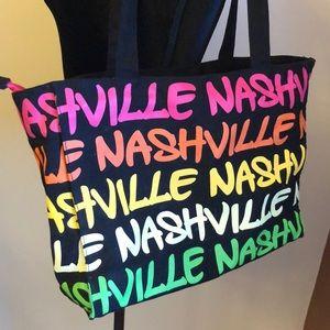 "Robin Ruth ""Nashville "" colorful zip tote bag"